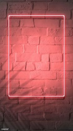 premium image of Neon red frame on a brick wall 894328 Framed Wallpaper, Phone Screen Wallpaper, Neon Wallpaper, Graphic Wallpaper, Aesthetic Iphone Wallpaper, Brick Wall Wallpaper, Iphone 6 Wallpaper, Marco Polaroid, Instagram Frame Template