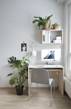Shop the look: minimalistische werkplek - Roomed