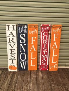 interesting spring porch sign decor ideas and designs for 2019 81 Fall Wood Signs, Fall Signs, Wooden Signs, Rustic Signs, Holiday Signs, Christmas Signs, Fall Crafts, Holiday Crafts, Holiday Fun