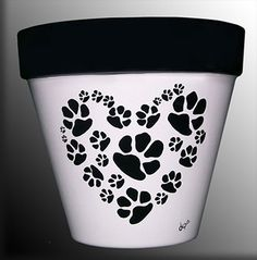 Dog or Cat Paws in a Heart-Shaped Pattern on Etsy, $32.00