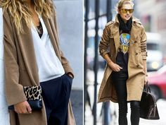 Spotted: Camel Coats, dusters, jackets, street style, trench coats