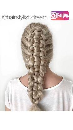 knotted loop braid - - No pues gracias, ya supe como hacerlo 😂 Ponytail Hairstyles Tutorial, Box Braids Hairstyles, Hairstyles Videos, Hairstyles 2018, Updo, Natural Hair Styles, Short Hair Styles, Hair Upstyles, Braids For Long Hair