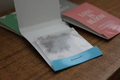 """Forget Me Not Flower Seed Wedding Favor """"Match Book"""""""
