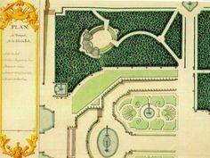 Plan du bosquet de la Salle de bal, jardin de Versailles