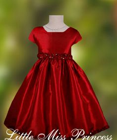 Girls Christmas Dress, Toddler Christmas Dress, Red with Big White ...