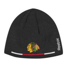 Chicago Blackhawks Player Reversible Knit Hat by Reebok | Sports World Chicago $25.95