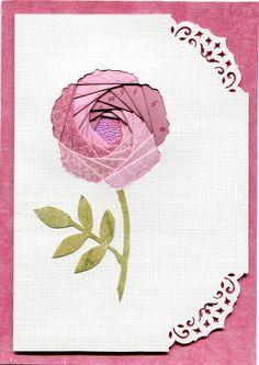 iris folding, flower