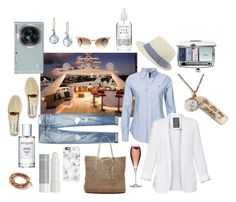 """""""That Yacht Life"""" by shannon-klement ❤ liked on Polyvore featuring Polo Ralph Lauren, Chart Metal Works, rag & bone, Manebí, Gucci, Talula, Henri Bendel, Banana Republic, Christian Dior and Korres"""
