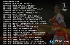 Jadwal lengkap siaran sepak bola UEFA Europa League