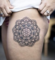 Mandala flower by Kristi Walls