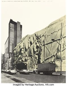 Prints:Contemporary, CHRISTO (Bulgarian/American, b. 1935). The Museum of Modern ArtWrapped (Project for the MOMA, New York, June 1968), 197...