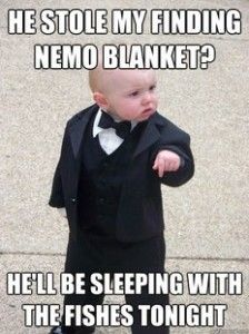 Made me think of Dylan's nemo blanket!