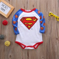 Superman & Batman Bodysuits  Sometimes superheroes come in small packages! This infant onesies feature a superman or Batman symbol! Choose your baby's favourite :)  www.babypotter.com