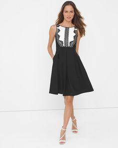 044b274fb1 Lace Tuxedo Fit-and-Flare Dress Tuxedo Fitting
