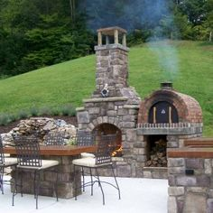 Outdoor Pizza Oven And Outdoor Fireplace Combo For