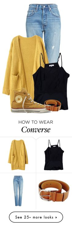 """~Aesthetic~"" by liesybug on Polyvore featuring Levi's, Parker, Converse and Hermès"