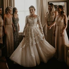 Brides say 'yes to the dress. Anomalie creates custom wedding dresses and bridal accessories, working with brides to design their gown online. Fancy Wedding Dresses, Custom Wedding Dress, Bridal Dresses, Weeding Dresses, Elegant Dresses, Bridesmaid Dresses, Wedding Trends, Wedding Ideas, Wedding Stuff