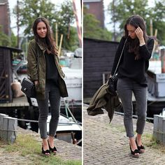 Khaki grey outfit in amsterdam (by Teetharejade .com) http://lookbook.nu/look/4330357-khaki-grey-outfit-in-amsterdam