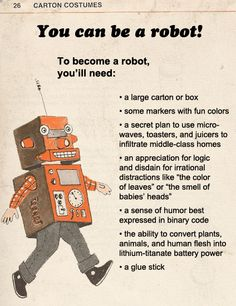 You can be a robot!