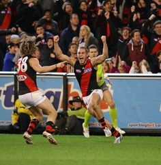Essendon FC Essendon Football Club, Australian Football League, Basketball Court, Sports, Red, Black, Hs Sports, Black People, Sport