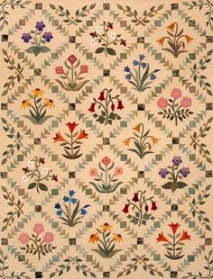Lydia's Wildflowers ... sashing flying geese and squares | Blog — The Rabbit Factory
