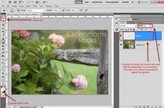 Photoshop - creating a watermark brush.