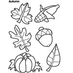 Autumn Day Mini Book Coloring Page | crayola.com