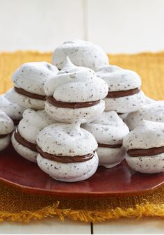 Peanut Butter-Chocolate Meringue Cookies — They look like they belong in a pastry shop, but even a beginner can make this impressive Peanut Butter-Chocolate Meringue Cookie recipe.
