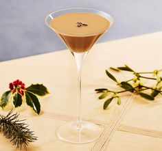 Baileys Flat White Martinin, an easy Christmas cocktail recipe for a festive drinks party
