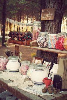 Rustic DIY Candy Bar for Wedding
