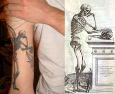 Man studying himself - art by Vesalius, the founder of modern anatomy. Taken from Carl Sagan's The Dragons of Eden.