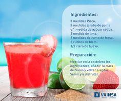 ¡Un fresa Sour jamás cae mal! ¿Listo para despedir el fin de semana? #Vainsa te da esta receta.