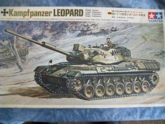 1960's Tamiya 1/35 Scale Military Kampfpanzer Leopard West German Army Medium Tank Motorized Model by MyHillbillyWays on Etsy