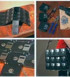Floppy Disk Messenger Bag - I have a TON of these somewhere, in all sorts of colors...... hmmmmm......