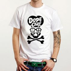 DOPE CHEF TOP KING STYLE WHITE T SHIRT LONGSLEEV ASAP OVOXO OBEY  TAYLOR GANG