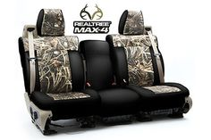 Coverking Real Tree Camo Neoprene Seat Covers - Best Price & Free Shipping on Coverking RealTree Camouflage Seat Covers for Cars, Trucks & SUVs Camo Seat Covers, Silverado Z71, Camo Truck Accessories, Pickup Accessories, Real Tree Camouflage, White Truck, Realtree Camo, Truck Interior, Cars