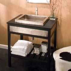 Cuzco Vanity in Brushed Nickel - Cuzco Collection - Bath Furniture - Bath