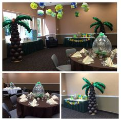 Balloon palm trees for rent NYC  by TubbyBalloonzShop on Etsy