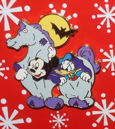 Disney Pin MICKEY and Donald as Horse Trick or Treat Mystery LE Limited Edition