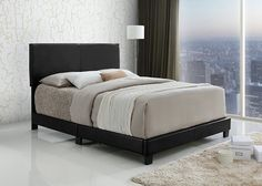 Bedroom: Queen Upholstered Diamond Stitched Platform Bed With Wooden Slat Support Queen from Fascinating Queen Bed Frame