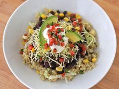 cilantro lime quinoa burrito bowls