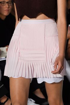 Love the pretty pink and tiny pleats! Christian Dior - Paris Fashion Week / Spring 2016 blog:Nudity And Flowers