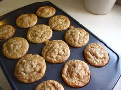 Healthy Banana Muffins - best recipe! Super moist. Add chocolate chips and walnuts.