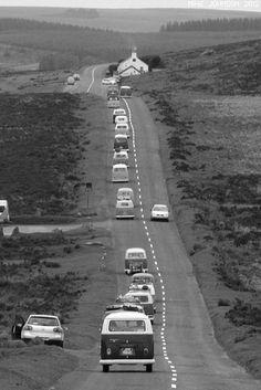 Black and White (Volkwagen Caravan?)