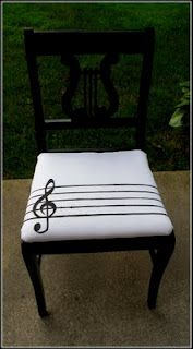 Lyre chair makeover.
