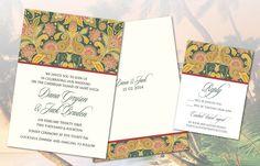 Caribbean Wedding Invitation Set