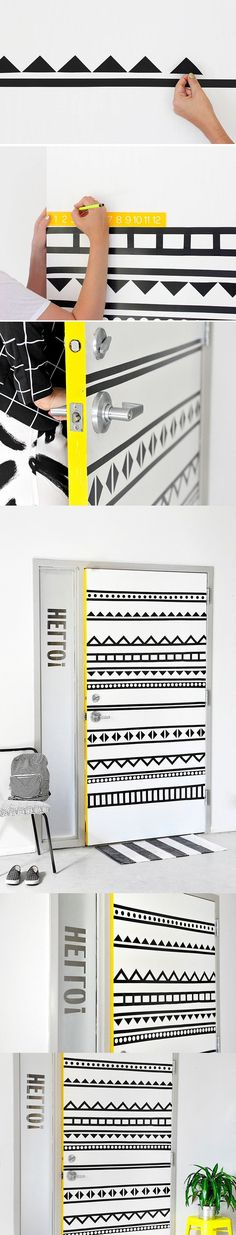 - ispydiy.com - DIY Door Decor - Creativa decoración para puerta