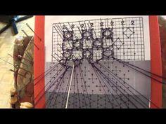 Encaje de Bolillos. Punto de la virgen picado 2 - YouTube
