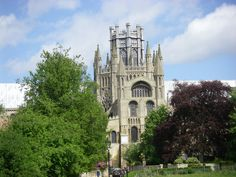 Ely Cathedral - Ely, Cambridgeshire , UK. Magnificent Norman Cathedral founded in 673 as a monastery.