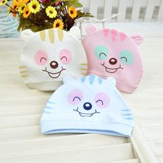 Fantastic 1 Piece Summer cotton Baby Hat Girl Boy Cap Unisex Beanie Infant Cotton knitted toddlers New Children 2 colors Au 18